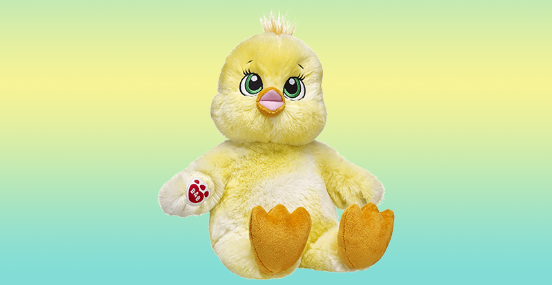 5e08ceeca91  20 Get ready to smile this spring with Cheerful Chirps Chick! This happy  lil  stuffed chick has bright yellow fur and radiant green eyes.